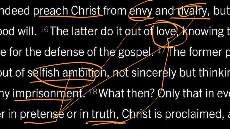 Philippians 1:15–18: Do You Proclaim Christ from Envy