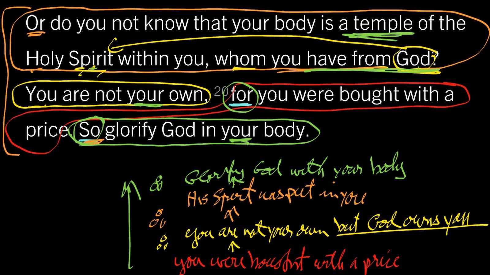 1 Corinthians 6:19–20: Flee Sexual Immorality! | Desiring God