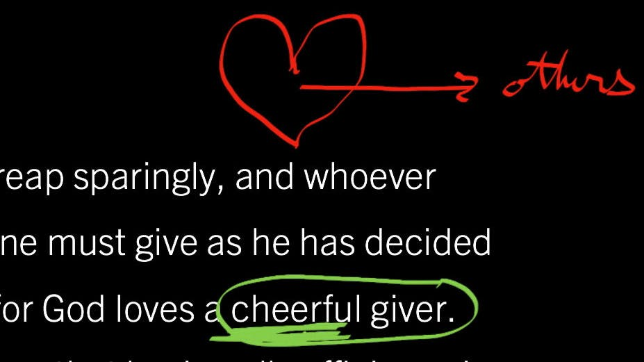 2 Corinthians 9:6–11: God Gives to Create Cheerful Givers