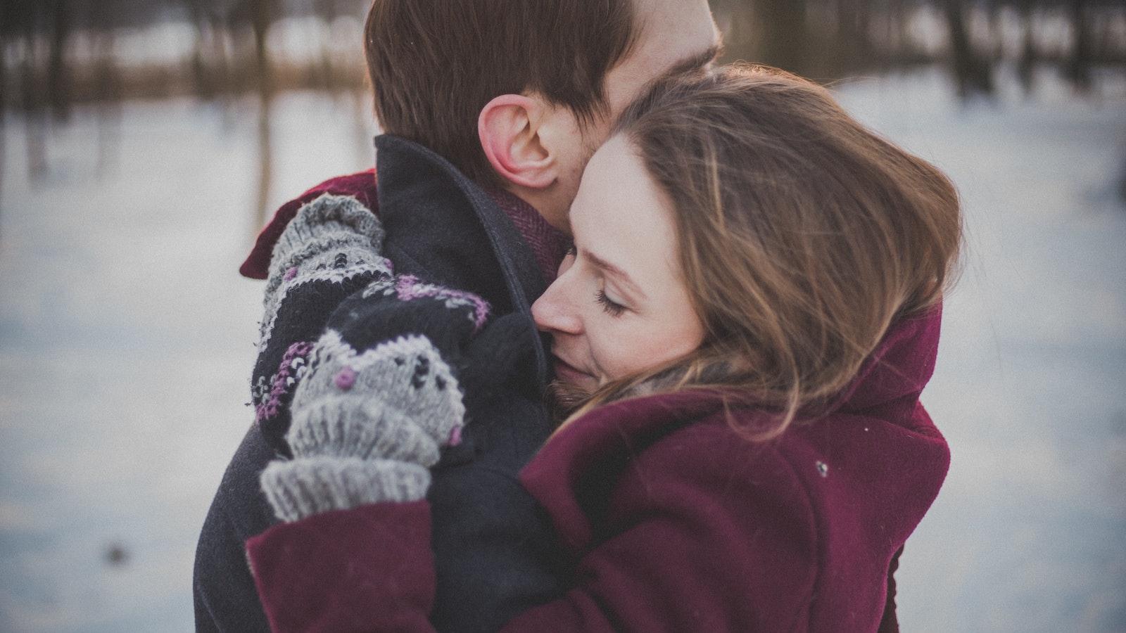 Hugging the opposite sex